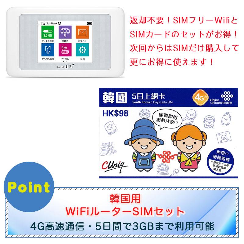 韓国SIMとポケットWi-Fiセット