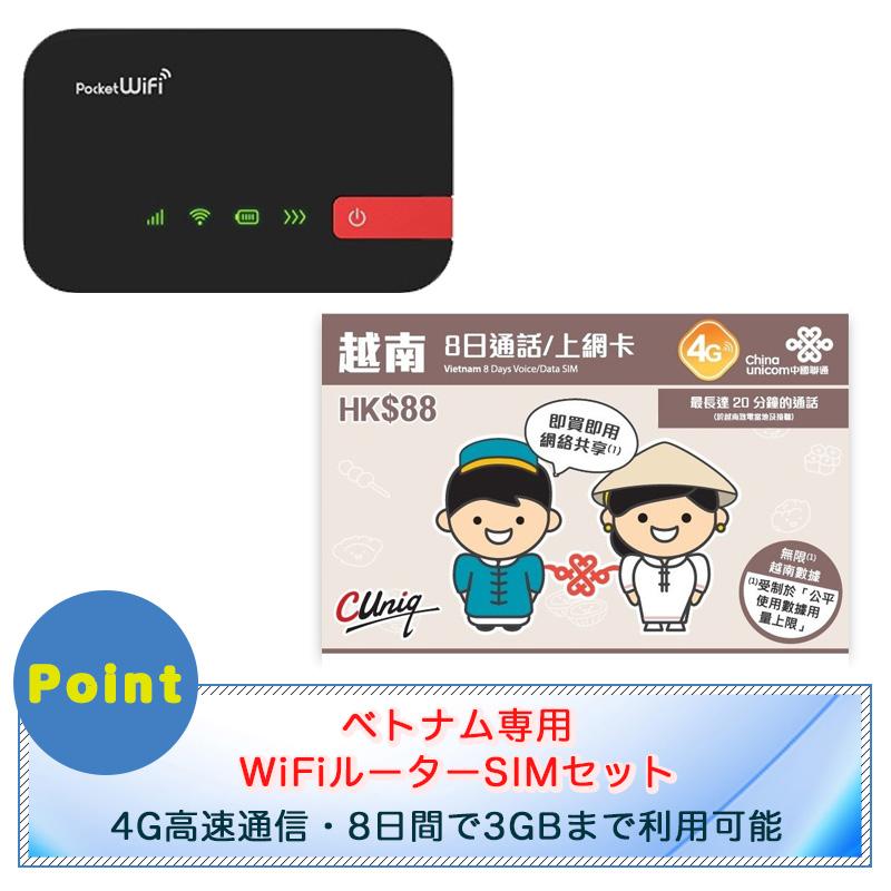ベトナムSIMとポケットWi-Fiセット