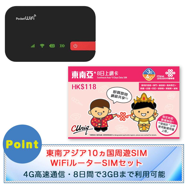東南アジア10ヵ国周遊SIMとポケットWi-Fiセット