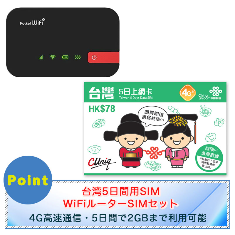 台湾SIMとポケットWi-Fiセット